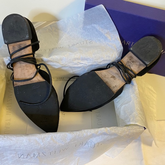 Stuart Weitzman Shoes Stuart Weitzman Black Suede Flats
